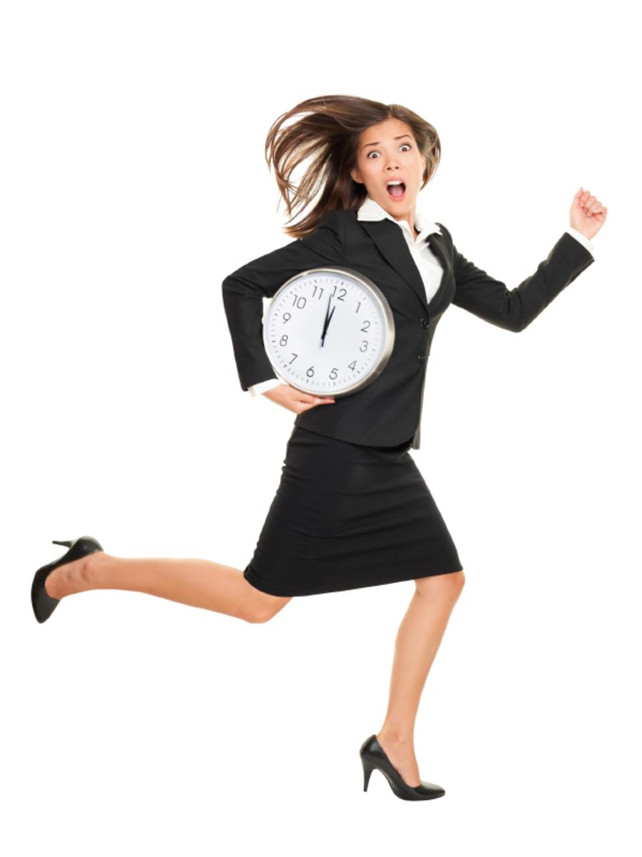 Resultado de imagen para llegar tarde al trabajo mujer