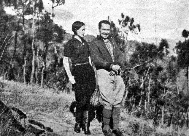 Яблонська з чоловіком