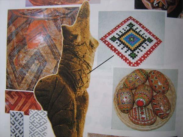 трипільські орнаменти, українська вишивка