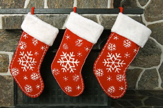 Новорічні шкарпетки черевички фото
