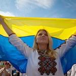 українка жовто-блакитний прапор