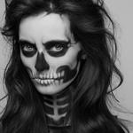 Грим на хеловін - скелет