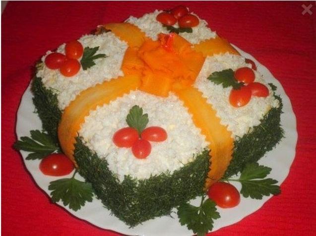 салат Новорічний подарунок