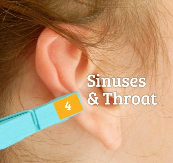 Рефлексологія, горло і ніс