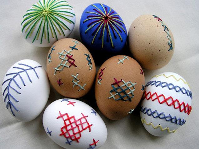 вишиті великодні яйця