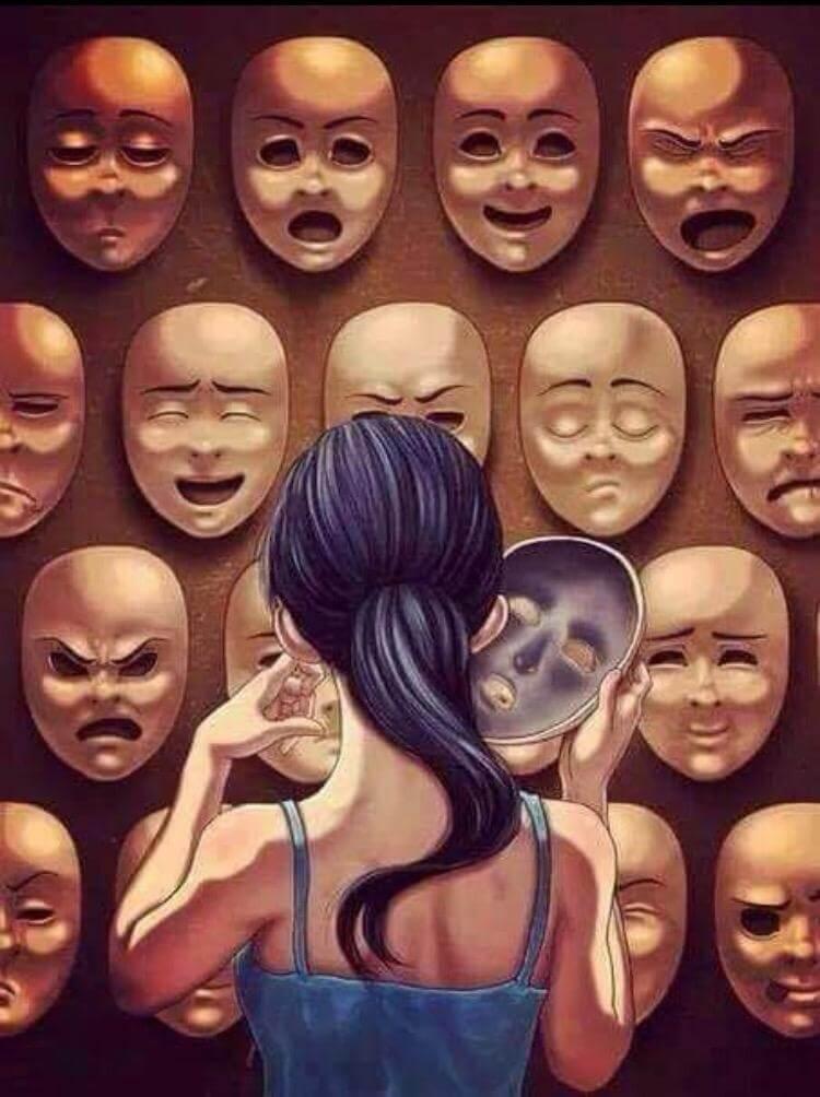 Люди носят маски в картинках