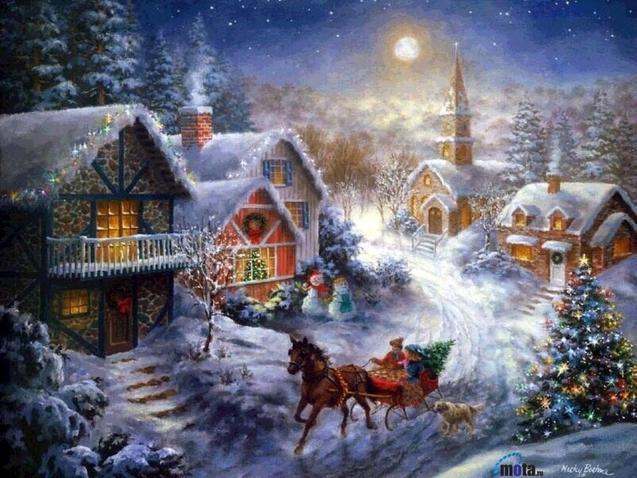 зимові свята Святий Миколай Різдво Новий рік