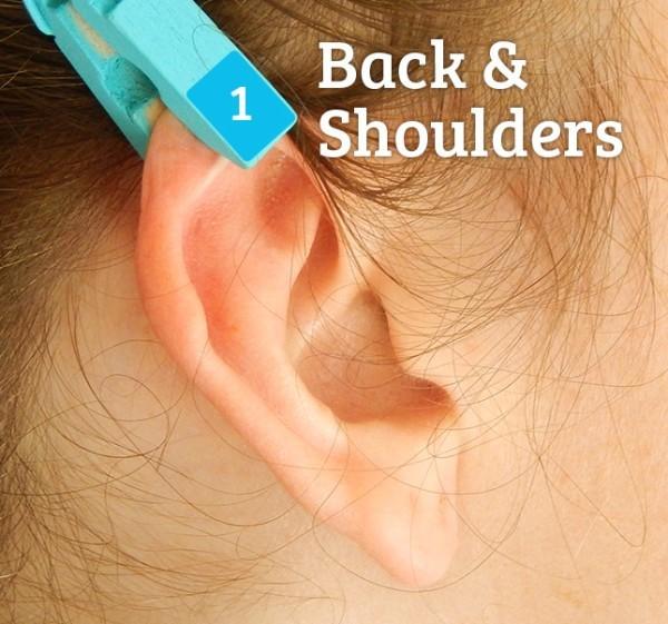 Рефлексологія, спина і плечі