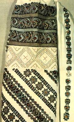 трипільські орнаменти, вишивка