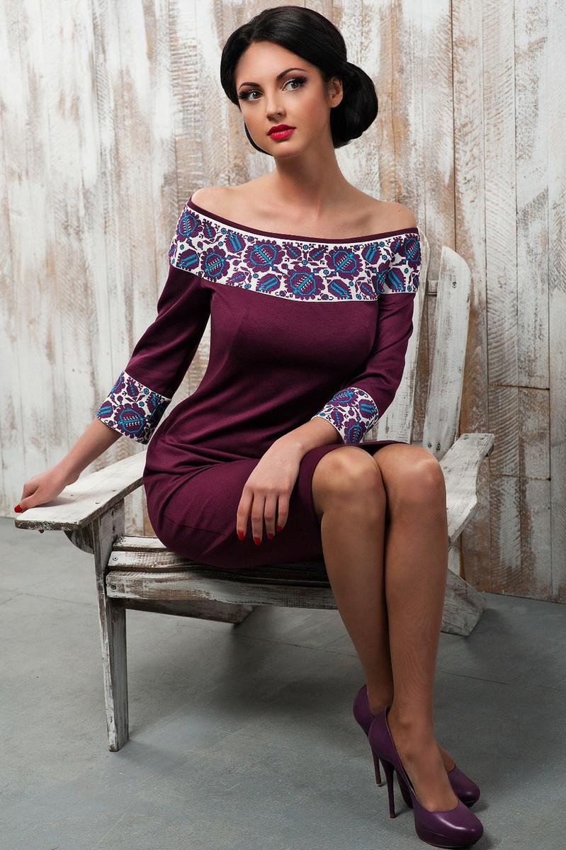 f95bf3b0f6ccdb сукня з вишивкою від Оксани Полонець