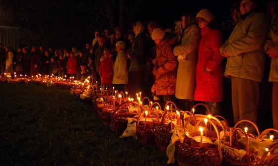 українські традиції Великдень кошик