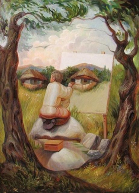 Автопортрет під липами, Олег Шупляк