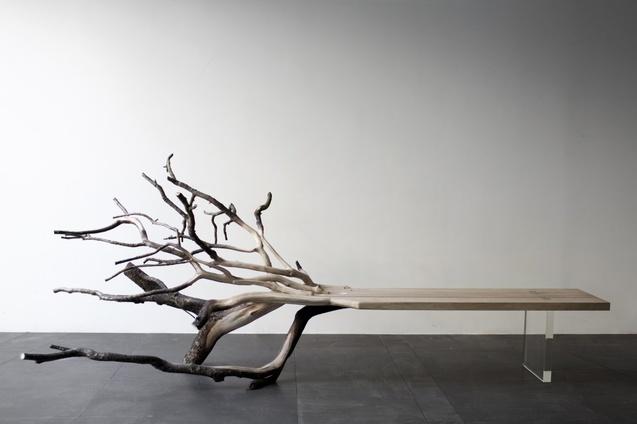 лавка, дерево
