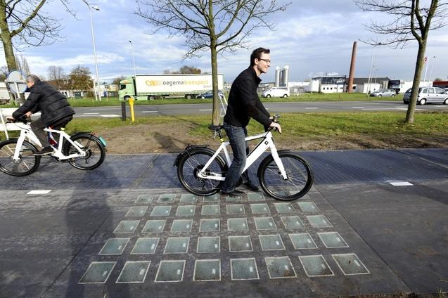 Сонячна велосипедна доріжка