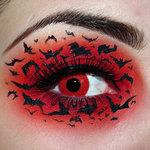 Грим на Хеловін - макіяж з кажанами