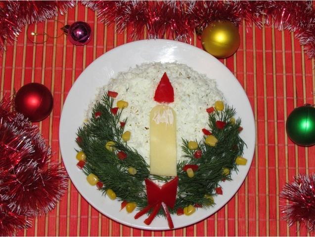 Салат Новорічна свічка