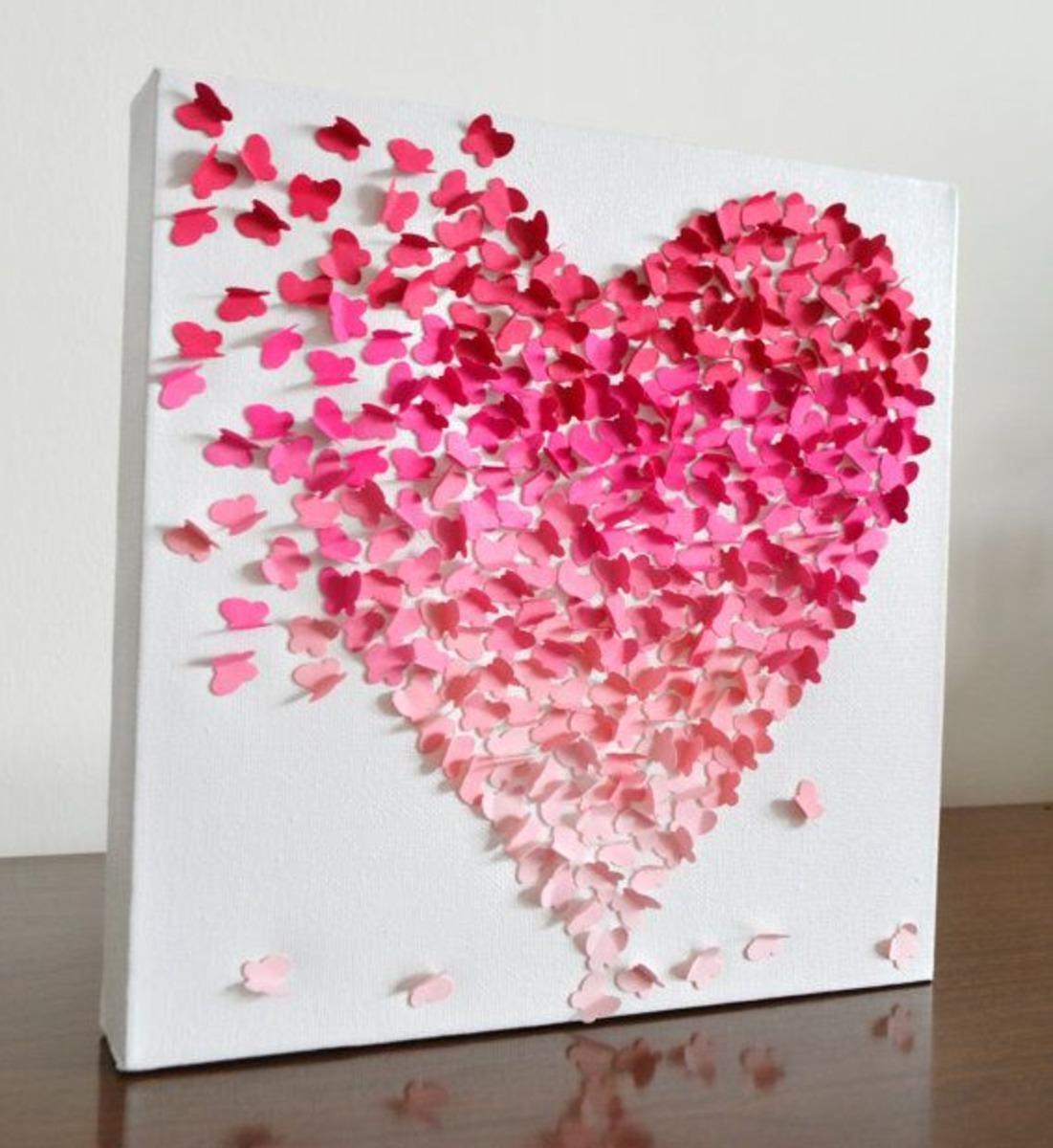 Картина из сердечек своими руками ServiceYard-уют вашего 18