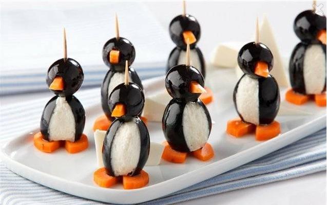 новорічна закуска Пінгвінчики
