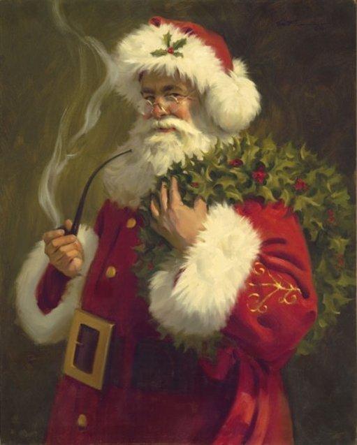 Санта Клаус портрет традиції