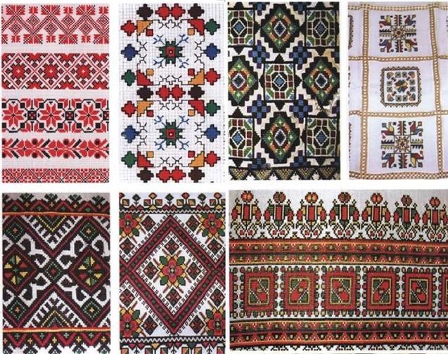 орнаменти у вишивці, квадрат