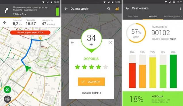 Мобільний навігатор із врахуванням якості доріг