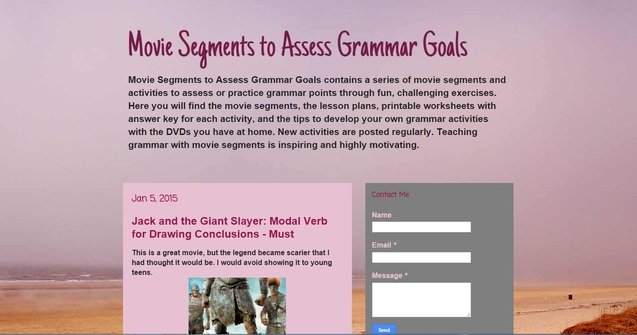 Movie Segments to Assess Grammar Goals