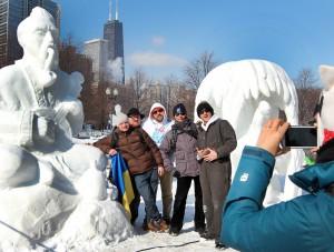 Козак Мамай зачарував Чикаго на International Snow Sculpting Challenge