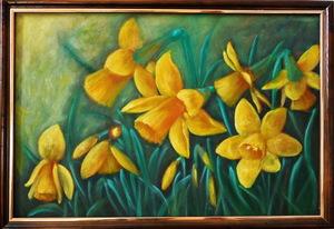 Живописні будні - полотно Нарциси