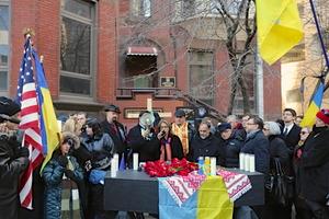 Мітинг пам'яті загиблих на Майдані в Україні