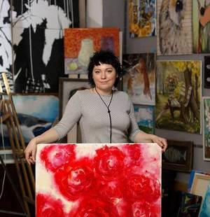 Художниця Марина Лактіонова: Я веду розмову з полотном і фарбами...
