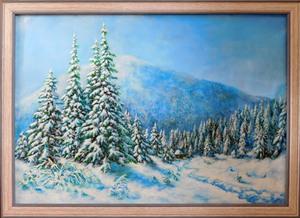 Картина Зима в Карпатах