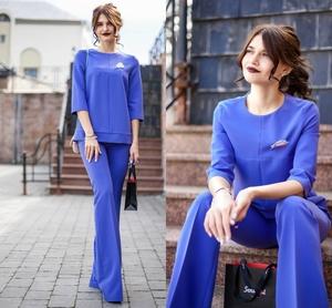 #образдня: блакитний костюм зі штанами