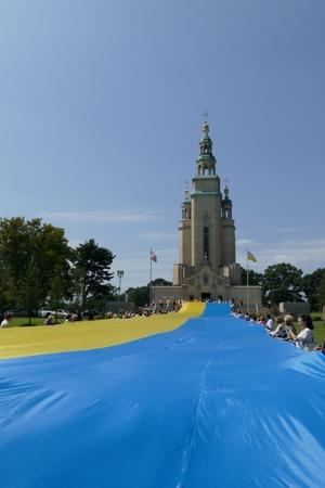 До дня Незалежності України в Нью-Йорку розгорнули 100-метровий прапор