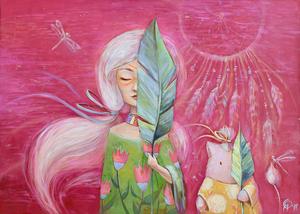 Розмови з літом:  талановита художниця Оля Яценко запрошує на власну виставку