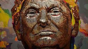 Автори портрета Путіна з гільз виклали портрет Трампа з монет