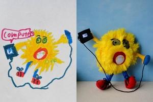 Як виглядають іграшки, втілені за ескізами дітей (світлини)