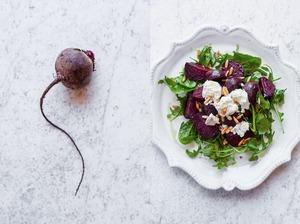 Вегетеріанський Салат: Смажений буряк & Рукола