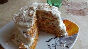 Морквяний низькокалорійний торт