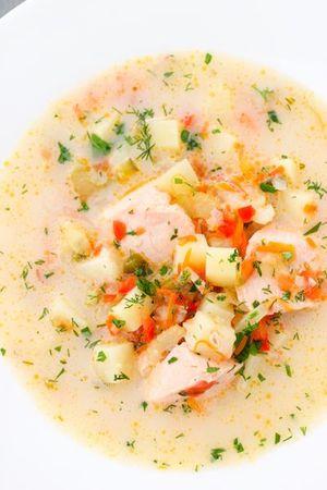 Готуємо смачний суп із сьомгою