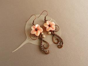 Майстер-клас wire wrap - Квіткові сережки