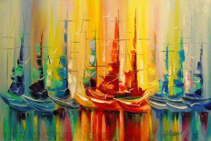 Світ яскравих барв на картинах Ольги Дарчук
