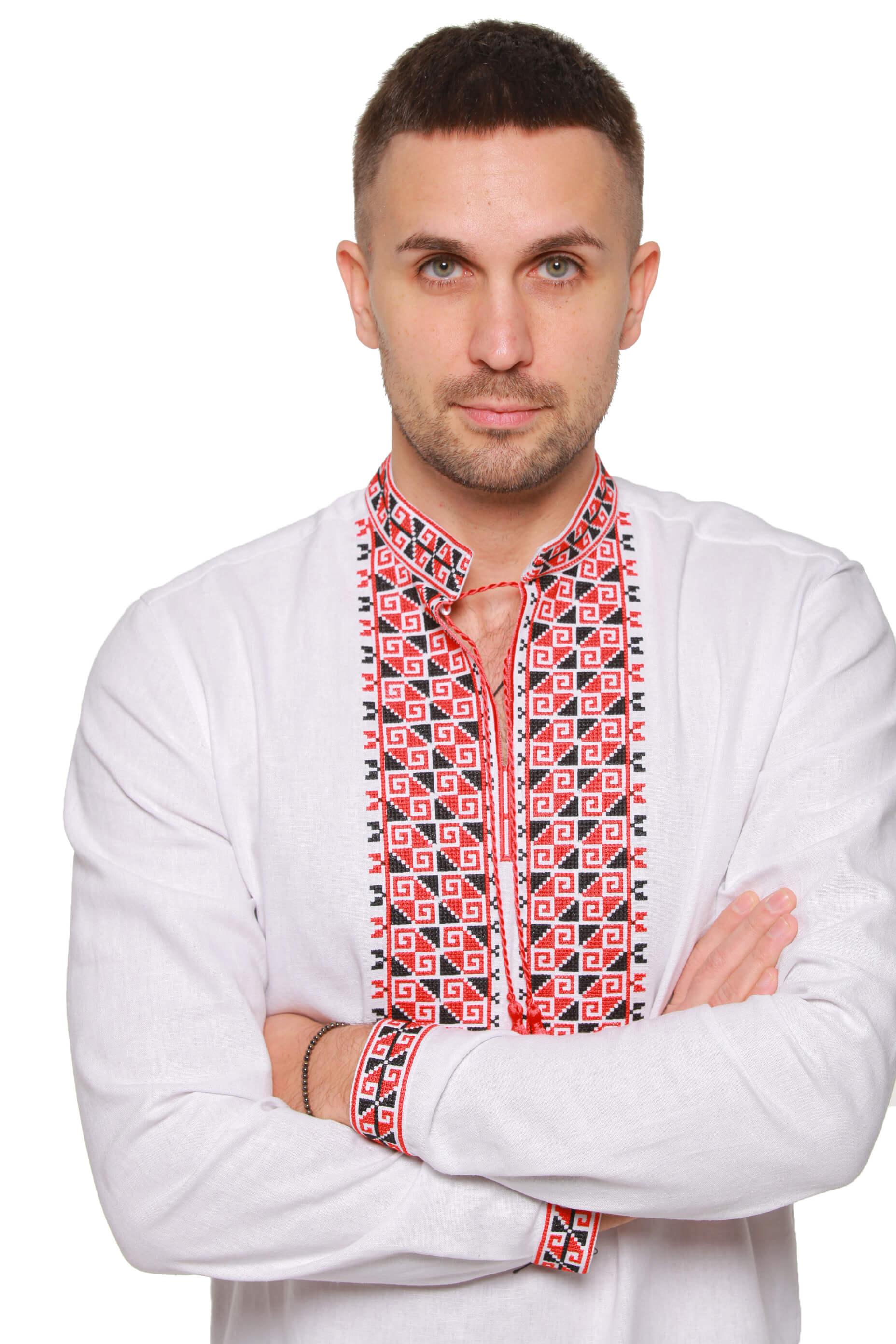 Купити чоловічу вишиванку від українського бренду 2KOLYORY 8948986e1fbbb
