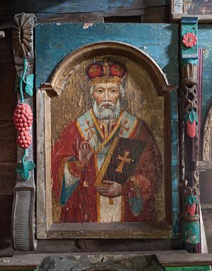 Образ сВятого Миколая на іконах дерев'яних церков закарпаття.