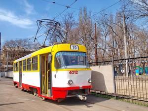 В Одесі з'явився оригінальний трамвай-галерея