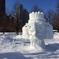 International Snow Sculpting Challenge, Чикаго, фото