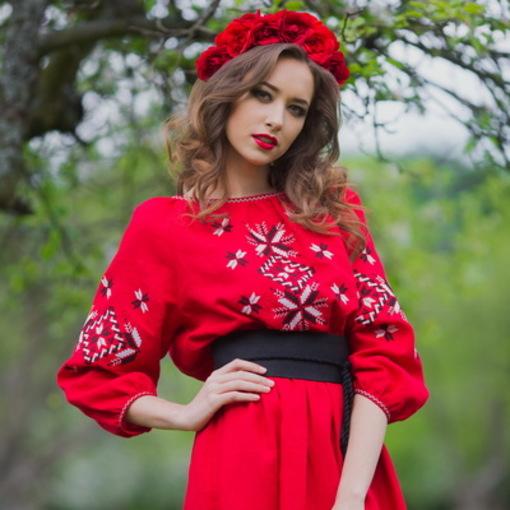 Вишита сукня в українському стилі від Бутіка сучасної вишиванки ee038fca338f8