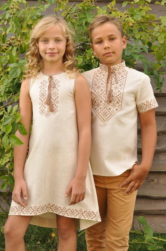 Вишиванка для хлопчика та сукня для дівчинки 9cbfc83e7fb01
